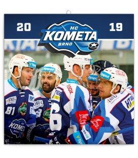 Nástěnný kalendář HC Kometa Brno (ilustrativní foto) 2019
