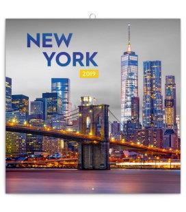 Nástěnný kalendář New York 2019