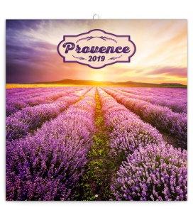 Nástěnný kalendář Provence - voňavý 2019