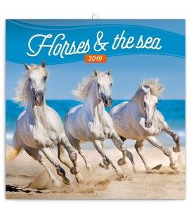 Wandkalender Horses and the Sea 2019
