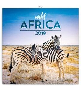 Nástěnný kalendář Divoká Afrika 2019