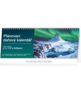 Stolní kalendář Plánovací daňový s fotkami 2019