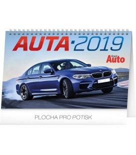 Stolní kalendář Auta 2019