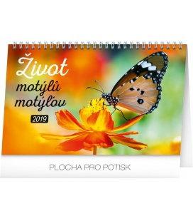 Stolní kalendář Život motýlů – motýlov CZ/SK 2019