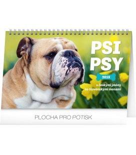 Stolní kalendář Psi – Psy CZ/SK se jmény psů 2019