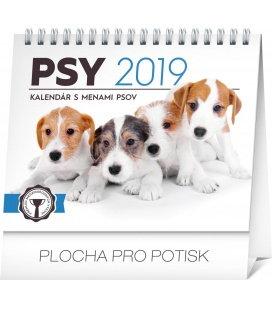 Stolní kalendář Psy – s menami psov SK 2019
