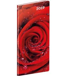 Diář kapesní plánovací měsíční Růže 2019