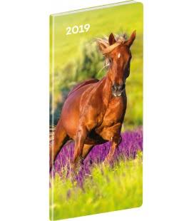 Diář kapesní plánovací měsíční Koně 2019