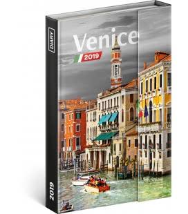 Diář týdenní magnetický Benátky 2019