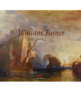 Nástěnný kalendář William Turner 2019