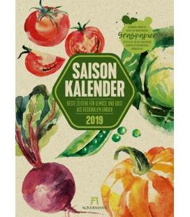 Nástěnný kalendář Sezonní kalendář zeleniny a ovoce / Saisonkalender Gemüse & Obst 2019