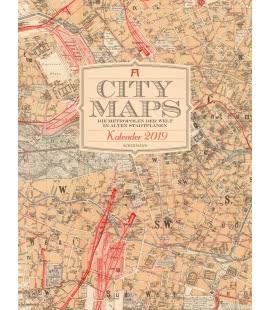 Nástěnný kalendář Mapy měst / City Maps – Die Metropolen der Welt in alten Stadtplänen 20