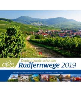 Nástěnný kalendář Cyklotrasy Německa / Deutschlands Radfernwege 2019