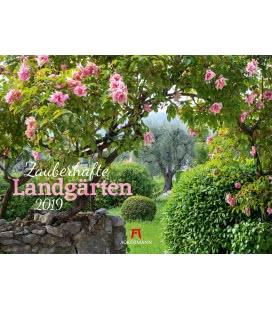 Nástěnný kalendář Kouzlo zahrad / Zauberhafte Landgärten 2019