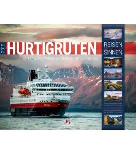 Nástěnný kalendář Hurtigruten 2019
