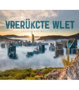 Nástěnný kalendář Bláznivý svět / Verrückte Welt 2019