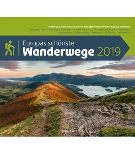 Nástěnný kalendář Evropské turistické stezky / Europas Wanderwege 2019