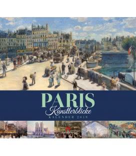 Nástěnný kalendář Paříž - v obrazech / Paris – Künstlerblicke 2019