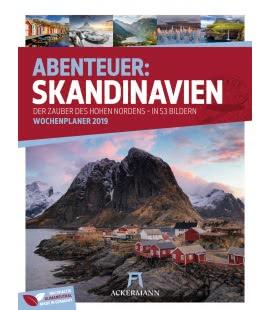 Nástěnný kalendář Skandinávie - týdenní plánovač / Skandinavien – Wochenplaner 2019