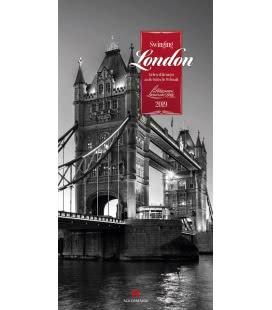 Nástěnný kalendář Londýn / Swinging London 2019