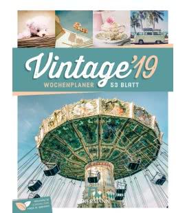 Nástěnný kalendář Vintage - týdenní plánovač / Vintage – Wochenplaner 2019
