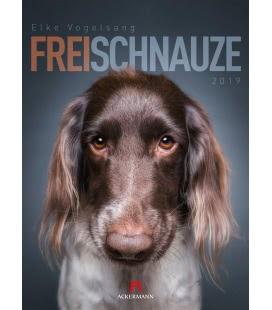 Nástěnný kalendář Psi / Frei Schnauze 2019