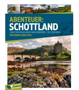 Nástěnný kalendář Skotsko - týdenní plánovač / Schottland – Wochenplaner 2019