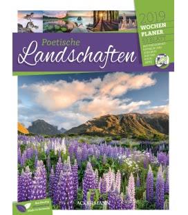 Nástěnný kalendář Romantické krajiny - týdenní plánovač / Poetische Landschaften – Wochen
