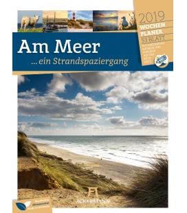 Nástěnný kalendář Pobřeží - týdenní plánovač / Am Meer, ein Strandspaziergang – Wochenpla