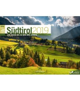 Nástěnný kalendář Jižní Tyrolsko / Südtirol ReiseLust 2019