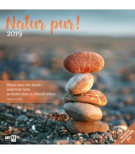 Nástěnný kalendář Čistá příroda / Natur pur! 2019