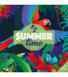 Nástěnný kalendář Léto - Letní čas / Summertime 2019