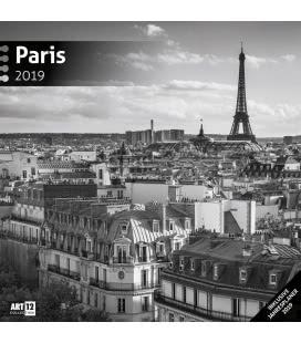 Nástěnný kalendář Paříž / Paris 2019