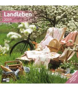 Nástěnný kalendář Romantická zákoutí / Landleben 2019