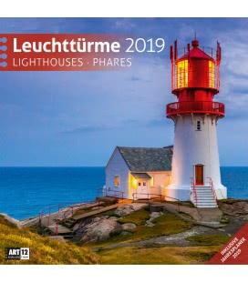 Nástěnný kalendář Majáky / Leuchttürme 2019