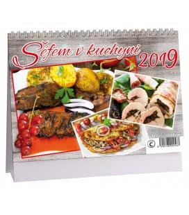 Stolní kalendář Šéfem v kuchyni 2019
