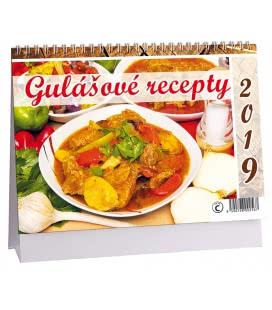 Stolní kalendář Gulášové recepty 2019