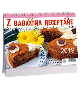 Stolní kalendář Z babiččina receptáře 2019
