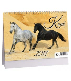 Stolní kalendář Koně 2019