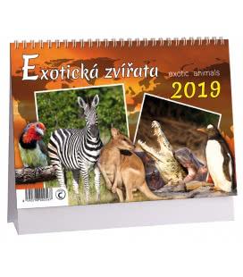 Stolní kalendář Exotická zvířata 2019