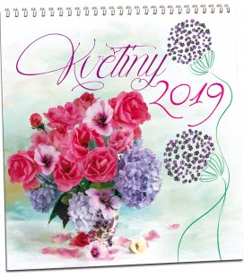 Nástěnný kalendář Květiny 2019