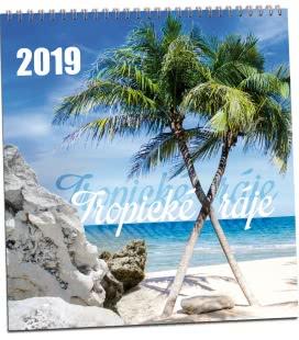 Nástěnný kalendář Tropické ráje 2019
