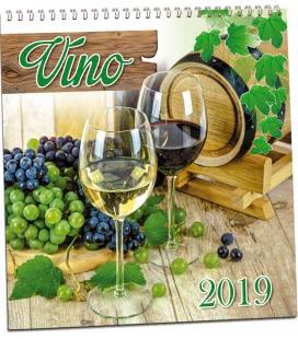 Nástěnný kalendář Víno 2019