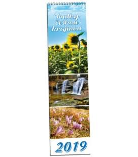 Nástěnný kalendář Toulky českou krajinou - vázanka 2019