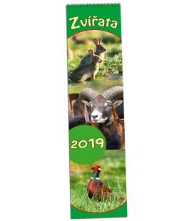 Nástěnný kalendář Zvířata - vázanka 2019