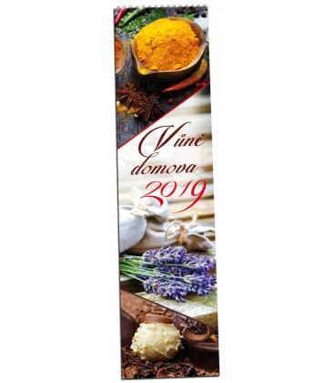 Nástěnný kalendář Vůně domova - vázanka 2019