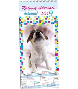 Wall calendar Rodinný plánovací 2 - Mazlíčci 2019