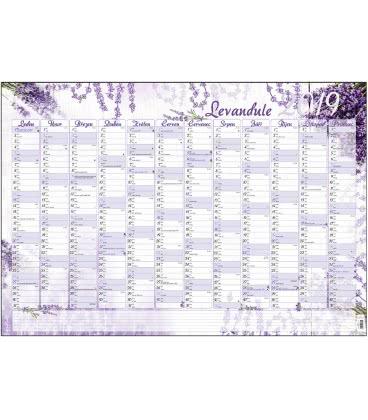 Nástěnný kalendář roční B1 - Levandule 2019