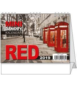 Stolní kalendář Red - mini daňový 2019