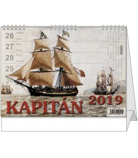 Stolní kalendář Kapitán 2019